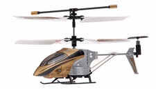 3 Channel Syma Co-Axial Indoor Micro Palm Sized Helicopter (Gold)