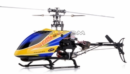 Dynam E-Razor 250-Pro  Helicopter w/ CNC Upgraded Rotor Head, Brushless Motor+ESC, LiPo Battery (2.4G-Blue) RC Remote Control Radio