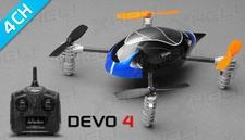 ExceedRC Ladybird V2 Devo 4 Ready to Fly RC Mini Quadcopter Drones 4 Channel (Blue)