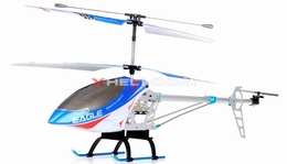 3 Channel Outdoor FXD Co-Axial RC Helicopter w/ LED lights & Gyro (Silver) 68688-FXDheli-Blue