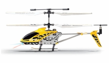 Hero RC  Gyro Star S107 3 Channel Mini Indoor Co-Axial Metal  Helicopter w/ Built in Gyroscope (Yellow) RC Remote Control Radio