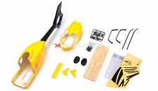 EC135 450 Pre-Painted Glass Fiber Fuselage for 450 size Helicopters w/ Magnets (Yellow) 85P-135-N414-Yellow