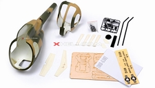 MD530 450 Pre-Painted Glass Fiber Fuselage for 450 size Helicopters w/ Magnets (Army) 85P-530-N413-Army