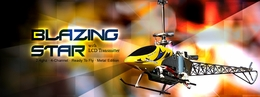 2.4Ghz Exceed-RC Blazing Star CX [Metal] 4 Channel Counter-Rotating Remote Control Helicopter RTF w/ Aluminum Metal Upgrades & LCD Transmitter!