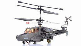 9006 3-Channel Black Air Shark RTF Ready to Fly KA-50  Helicopter w/ Built in Gyro RC Remote Control Radio