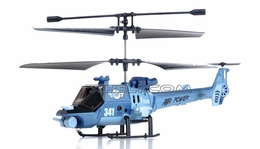 JXD 341 Mini 3 Channel  helicopter RTF w/ Gyro & LED Lights (Blue) RC Remote Control Radio