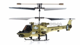 JXD 341 Mini 3 Channel  helicopter RTF w/ Gyro & LED Lights (Green) RC Remote Control Radio