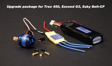 Alpha 400 Brushless Motors, Raiden 25A Brushless ESC, and Fusion Power LiPo 11.1V 1800mAh 15C Upgrade Kit Brushless-UpgradeKit-B