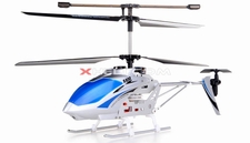 Syma S032 Metal 3-Channel RTF Co-Axial  Electric Helicopter w/ Gyroscope (Silver) RC Remote Control Radio