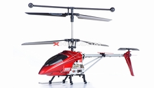 Syma S006G Alloy Shark   Metal Frame Helicopter w/ Gyroscope (Red) RC Remote Control Radio