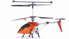 Syma S006G Alloy Shark   Metal Frame Helicopter w/ Gyroscope (Orange) RC Remote Control Radio