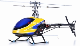 Fully-Loaded 6-Channel 2.4G E-Razor 450-3D Metal  Helicopter w/ Direct-Belt-Drive Brushless Motor & Lipo, Brushless Motor+ESC+LiPo (Blue RTF) RC Remote Control Radio