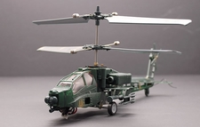 The New 3 CH RC Electric AH-64 Apache Co-Axle Helicopter RTFw/ Lipo Battery