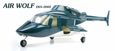 ESKY'S Scale Cabin AIR WOLF. Full  Fiber Glass Material. EK4-0060_AirWolfFuselage_Blue