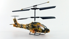 Yellow Version Mini Apache 3 Channel Co-Axial Helicopter