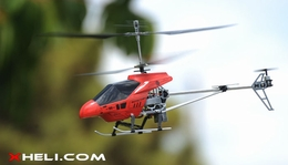 3 Channel RTF Ready to Fly Electric Helicopter w/ Built in Gyroscope (Red)