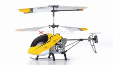 3 Channel Mini X Sport RC Electric Co-axial Helicopter w/ LED Lights Full Metal Body Frame & Gyroscope (Yellow)