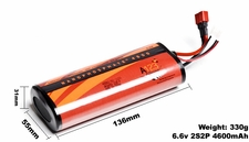 A123 Systems 4600mAh 6.6V 2S2P Lithium-ion LiFePo4 Battery A123-400063-001