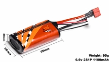 A123 Systems 1100mAh 6.6V 2S1P Lithium-ion LiFePo4 Battery A123-400317-001