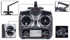 Exceed RC 2.4Ghz 4 Channel Radio Control Spread Spectrum Transmitter w/ LCD Monitor for Exceed RC Helicopters 50H33-23