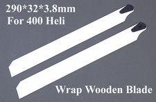 290*32*3.8mm G2/H60/H36 400 Helicopter Wrap Wooden Blade 02P05-WrapBlade