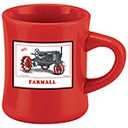 Farmall Red Diner Mug with Gray Tractor
