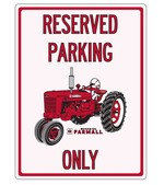 "FARMALL SIGN - ""Reserved Parking Only"""