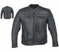 Milwaukee Leather Custom Naked Cowhide Mens Scooter Jacket 08N from Motobuys.com