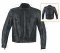 Milwaukee Leather Custom Naked Cowhide Mens Scooter Jacket 15N from Motobuys.com