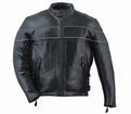 Milwaukee Leather Custom Naked Cowhide Mens Motorcycle Jacket -21N from Motobuys.com