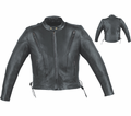 Milwaukee Leather Premium Naked Cowhide Mens Scooter Jacket 10N from Motobuys.com