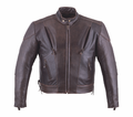 Milwaukee Leather Premium Naked Cowhide Brown Mens Scooter Jacket 10R from Motobuys.com