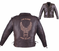 Milwaukee Leather Premium Naked Cowhide Embossed Mens Motorcycle Jacket 46-10 from Motobuys.com