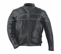 Leather & Krome Premium Leather Men�S Motorcycle Jacket 21 from Motobuys.com
