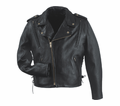 Leather & Krome Premium Leather Vented Police Motorcycle Jacket from Motobuys.com