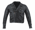 Leather & Krome Premium Leather Men�S Pistol Pete Motorcycle Jacket from Motobuys.com