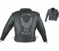 Leather & Krome Premium Leather Embossed Men�S Motorcycle Jacket from Motobuys.com