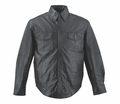 Leather & Krome Premium Leather Men�S Motorcycle Shirt from Motobuys.com