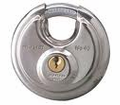 Tough Under Fire - Stainless Steel Round Padlock from Motobuys.com