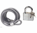 Wps Locks - 6' Steel Cable And Pad Lock Set from Motobuys.com