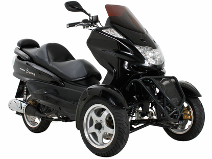 Sunny mc d150tka trike gas motor scooters 150cc 3 wheels for Motor scooter 3 wheels