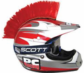Helmet Accessories Pc Racing - Helmet Mohawks Red Suction Cup from Motobuys.com