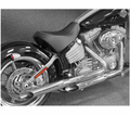 "Cycle Shack 2"" Stepped Muffler & Drag Pipes (Softail Models) from Motobuys.com"
