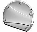 Willie & Max the Showstopper Series Chrome Clutch Cover Accents / Inserts from Motobuys.com