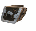 Bike Accessories Willie & Max - Studded Grey Thunder Compact Slant Bag from Motobuys.com
