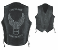 Leather & Khrome Premium Men�S Motorcycle Vest from Motobuys.com