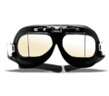 Emgo Black Split Lens Goggles from Motobuys.com