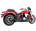 FREEDOM PERFORMANCE - HONDA METRIC CRUISER BLACK EXHAUST - Street 2011 - Lowest Price Guaranteed! FREE SHIPPING !