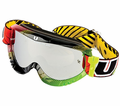 Utopia Slayer Pro Mx Goggles Rasta from Motobuys.com
