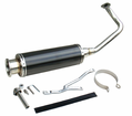 Ncy Gy6 Performance Systems - Gy6 50/Qmb 139 Electroplate Titanium Stainless Exhaust Pipe - Swd - from Motobuys.com